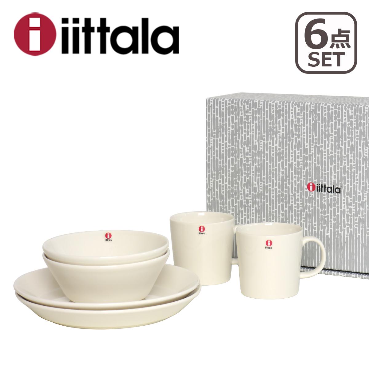 イッタラ iittala ティーマ TEEMA ブレックファーストセット 6点セット WHITE (プレート21cmx2+ボウル15x2+マグ0.3Lx2) ギフト・のし可 HL150821