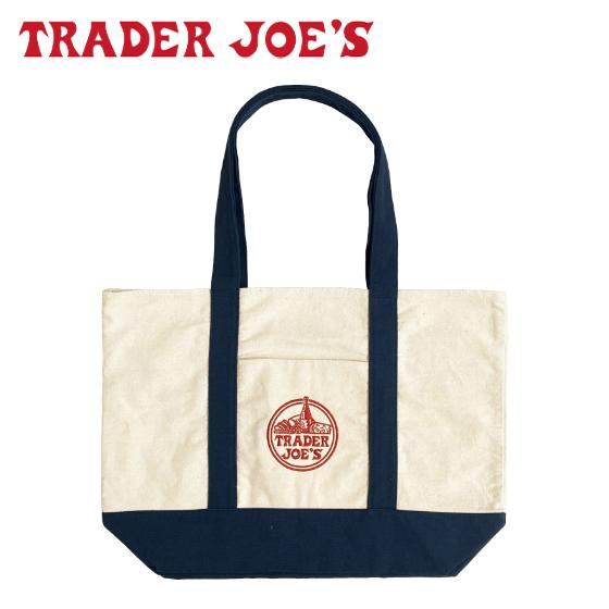 アメリカ発 TRADER JOES お買い物バッグ 【4時間クーポン】Trader Joe's トレーダージョーズ トートバッグ エコバッグ