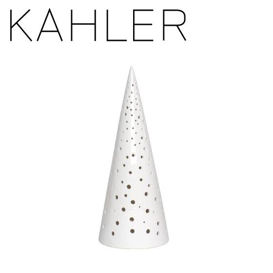 ケーラー ノビリ キャンドルホルダー ツリー(M) H245 KAHLER Nobili candle holder snow white 16211 デンマーク ギフト・のし可
