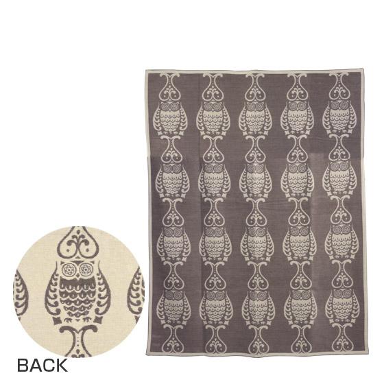 KLIPPAN クリッパン コットン&シュニール織り ブランケット 140x180 Owl サンド ギフト可