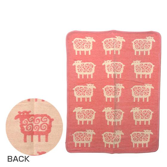 KLIPPAN クリッパン キッズシュニール織り ブランケット 70x90 SHEEP (ヒツジ) ピンク ギフト・のし可