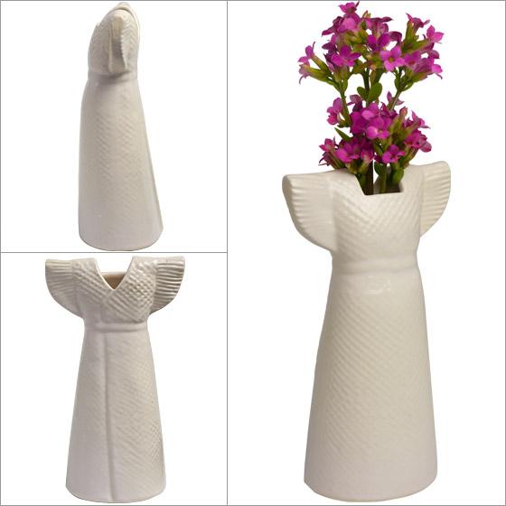 【Max1,000円OFFクーポン】リサラーソン 花瓶 ドレス ホワイト ワードローブ 1560403 リサ・ラーソン LisaLarson(Lisa Larson)Clothes /Wardrobe Dress 花器・フラワーベース・陶器置物・北欧・オブジェ