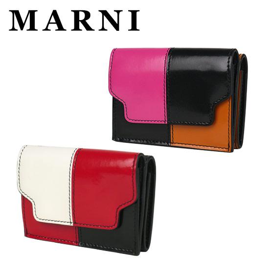 MARNI マルニ 三つ折り ミニ財布 小銭入れ付 PFMOW02L01 LV455 選べるカラー