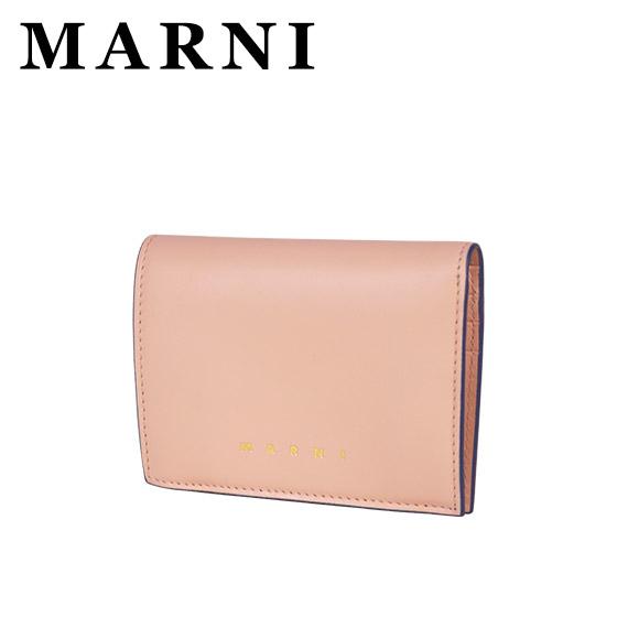 MARNI マルニ 二つ折り財布 小銭入れ付 PFMO0021Y0 LV589 ANTIQUE ROSE+GOLD+RED ギフト・のし可