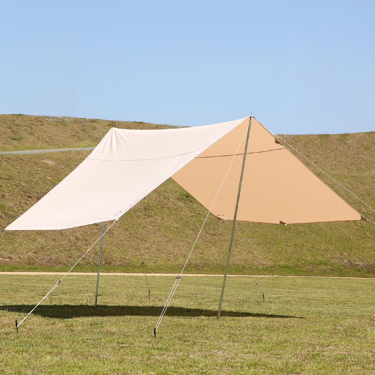 買い物 ノルディスク タープ キャンプやアウトドア 日常使いにも カーリ 12 Nordisk Kari カリ 秀逸 Poles Pegs Basic Incl. Guy 142017 Ropes Tarp Cotton