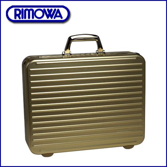 ◆RIMOWA 리모와아탓슈케이스 910.12 실버 세이프 골드 비즈니스 케이스