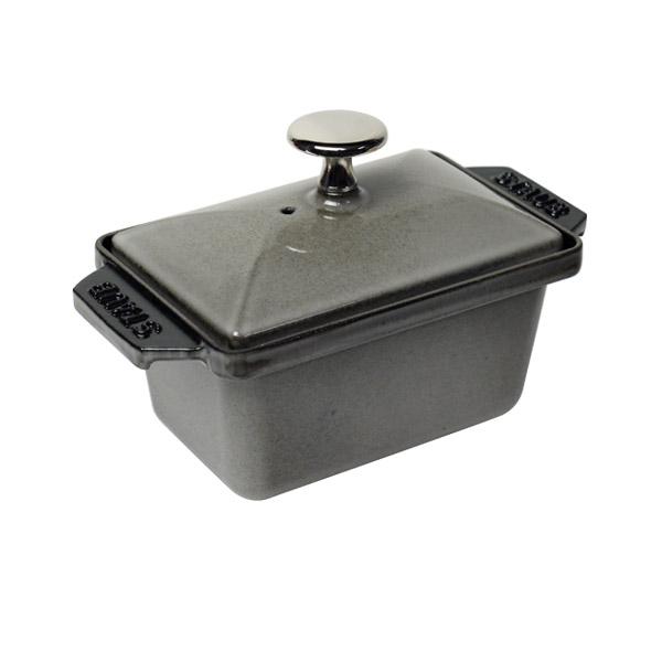 ストウブ STAUB 長角ミニテリーヌ 15cm グラファイトグレー Rectangular small terrine 鍋 優れた保温性と保冷性でデザートも stb8024 ギフト・のし可