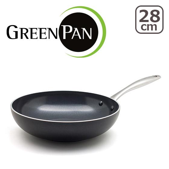 【3%OFFクーポン】グリーンパン 28cm ヘリテージブラックダイヤモンド ウォック GREEN PAN 北海道・沖縄は別途540円加算 ギフト・のし可