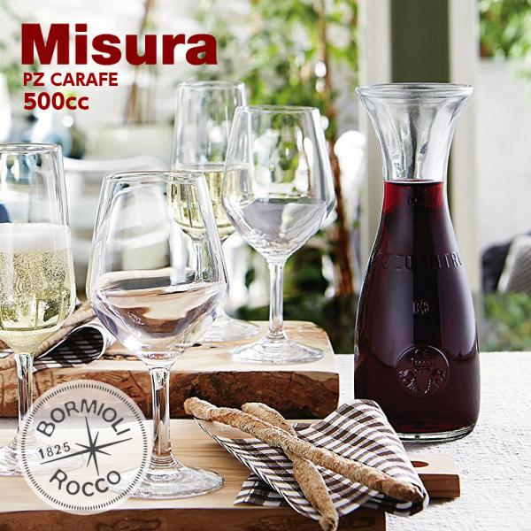 Bormioli 上品 Rocco ボルミオリロッコ デカンタ ミズーレ 新着セール カラフェ 500cc ワイン PZ MISURA 0.5L ガラス食器 CARAFE 500ml デキャンタ