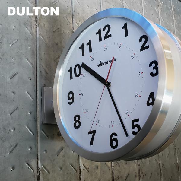 [時計]DULTON ダブルフェイス ウォールクロック S82429(DOUBLE FACE WALL CLOCK・シルバー・ブラック・アイボリー・壁掛け・両面・天井・BONOX・アメリカン・大きい・大型・かっこいい・おしゃれ・かわいい)ダルトン