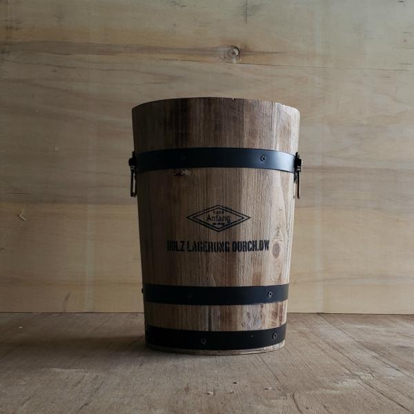 [ダストボックス]ウッドゴミ箱 M(アンティーク・ヴィンテージ・アメリカン・木製・木樽・おしゃれ・かわいい・かっこいい・シンプル)不二貿易