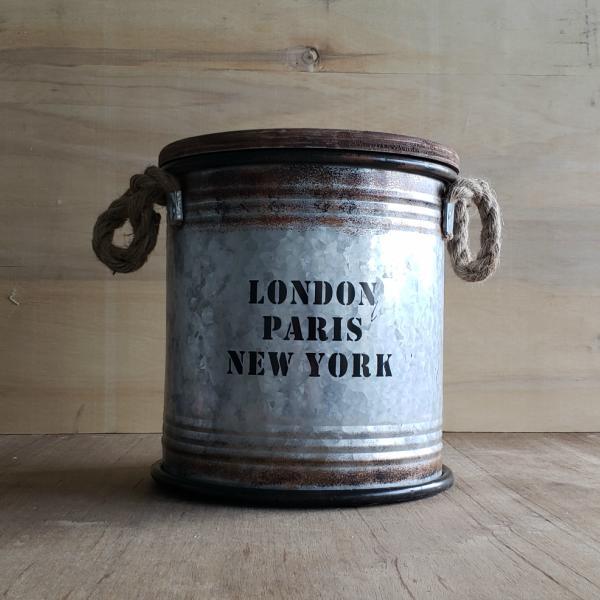 置くだけでおしゃれ 収納 ブリキスツール 売買 シルバー H26cm ドラム缶 アンティーク 不二貿易 木製 かっこいい 18%OFF かわいい おしゃれ アメリカン ヴィンテージ