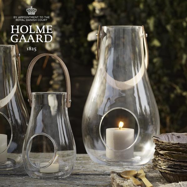 [キャンドルホルダー]HOLMEGAARD DESIGN WITH LIGHT Lantern Clear Lサイズ H29cm(デザイン ウィズ ライト ランタン クリア・キャンドルベース・テーブルランプ・北欧インテリア・おしゃれ・かっこいい・かわいい)ホルムガード