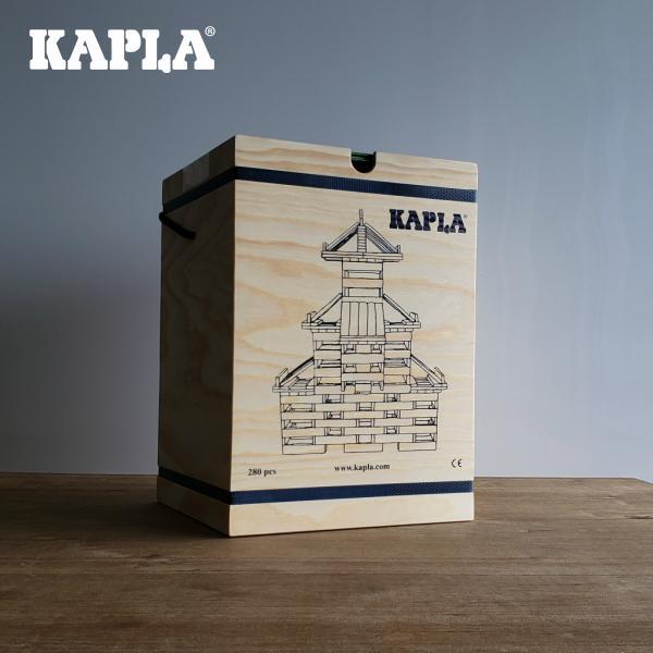 フランス産天然白木のブロック 積み木 KAPLAブロック 280ピース 初級建物アートBOOK付き 年末年始大決算 緑本 KAPLA280 新作続 海外 カプラ 人気 シンプル 天然木 白木 積木
