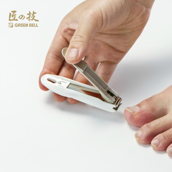 GREEN BELL グリーンベル 爪切り 匠の技 刃間の広いステンレス製つめきり G-1203 ツメ切り 日本製 ツメヤスリ付き 国産 関市 テレビで話題 数量限定アウトレット最安価格 高級