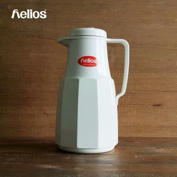 1909年創業の歴史あるドイツ ヘリオス社の商品 信頼 卓上ポット HELIOS 海外 Basic 1.0L ベーシック1L 保温 ガラス魔法瓶 かっこいい 1000ml 北欧 おしゃれ オフホワイト かわいい レトロ ドイツ ヘリオス