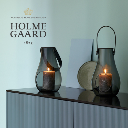【ランタン】ホルムガード(HOLME GAARD)DESIGN WITH LIGHT JAR LANTERAN SMOKE スモークMサイズ H25cm(ガラス・容器・キャンドル・北欧・インテリア・おしゃれ)