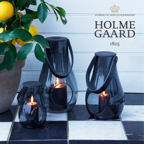 【ランタン】ホルムガード(HOLME GAARD)DESIGN WITH LIGHT JAR LANTERAN SMOKE スモークLサイズ H29cm(ガラス・容器・キャンドル・北欧・インテリア・おしゃれ)【新入荷】