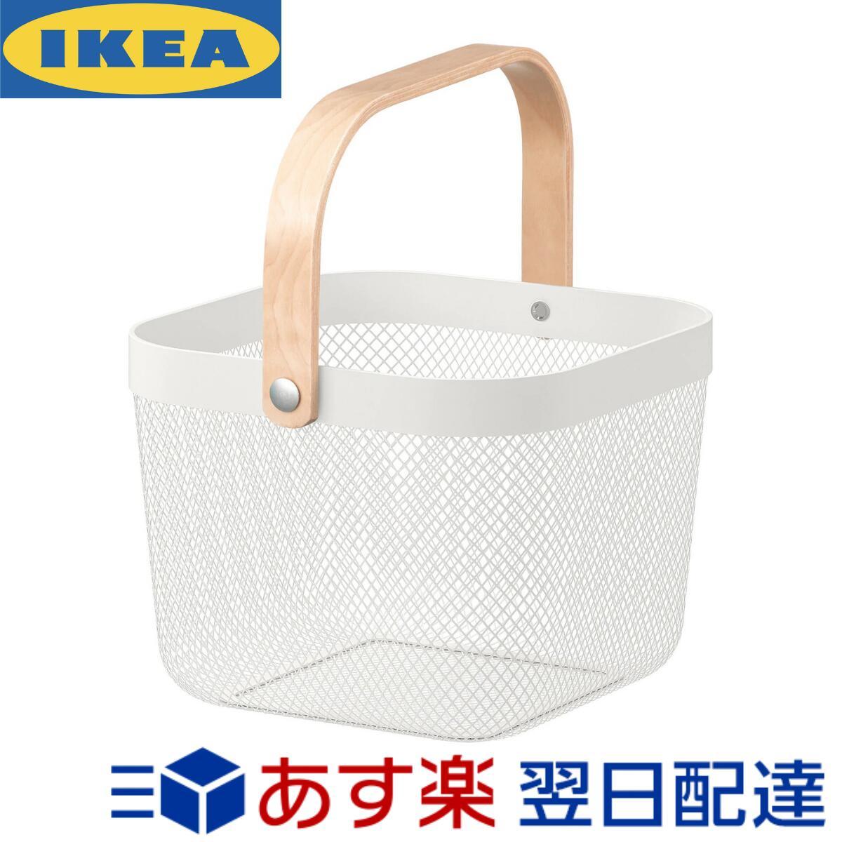 迅速発送 送料無料 ポイント消化 お金を節約 IKEA RISATORP 25x26x18 新作入荷 バスケット cm イケア ホワイト