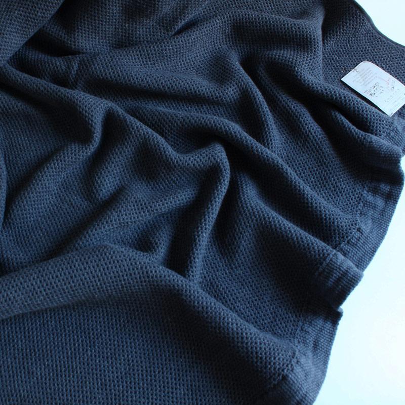 今治タオル コンテックス スロー&ブランケットImabari Towel Kontex Throw & Blanketヴィンテージワッフル ネイビー