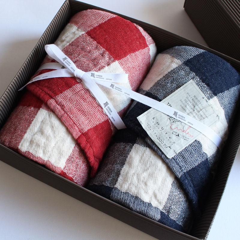 今治タオル コンテックス ヴィンテージチェック ギフトセットImabari Towel Kontex Vintage Check GiftSetフェイスタオル 2枚ギフトラッピング無料 のし無料【楽ギフ_包装】【楽ギフ_包装選択】【楽ギフ_のし】【楽ギフ_のし宛書】