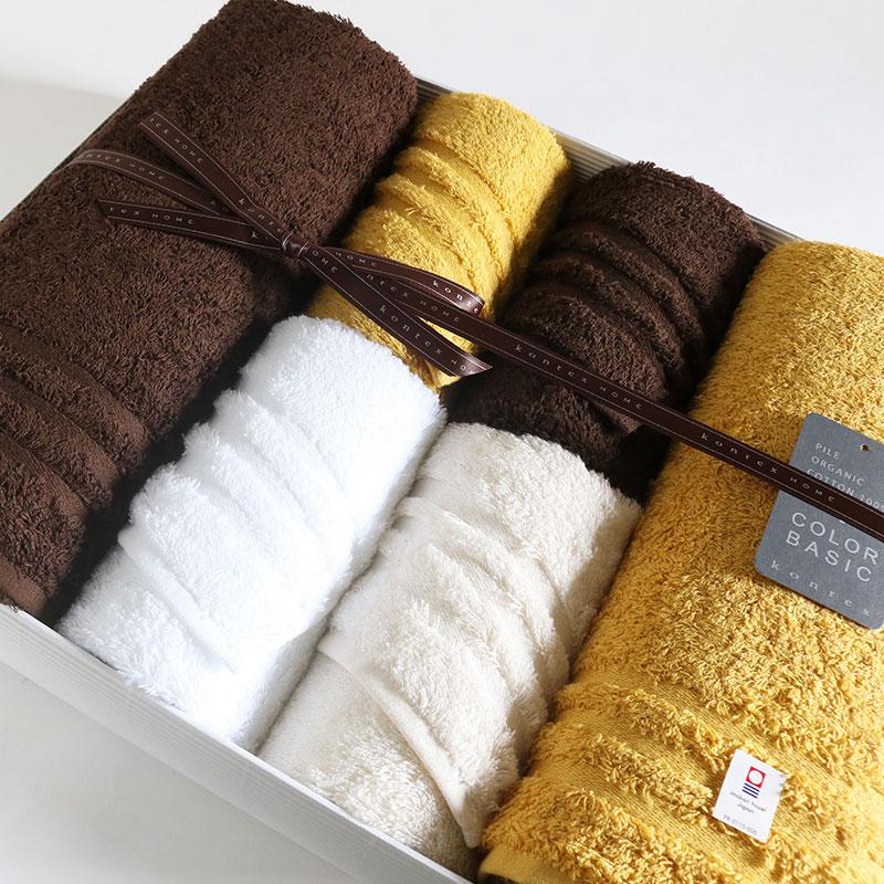 今治タオル プラスカラー コンテックス ギフトセットimabari towel KONTEX PlusColor GiftSetバスタオル2枚xフェイスタオル4枚のし包装無料 ギフトラッピング無料