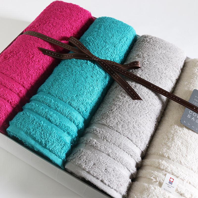 今治タオル プラスカラー コンテックス ギフトセットimabari towel KONTEX PlusColor GiftSetバスタオル4枚のし包装無料 ギフトラッピング無料