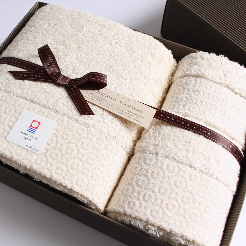 今治タオル コンテックス ピュアオーガニックimabari towel KONTEX PureOrganicバスタオル1枚xフェイスタオル1枚xゲストタオル1枚 ギフトセットギフトラッピング無料 のし無料 プレゼント