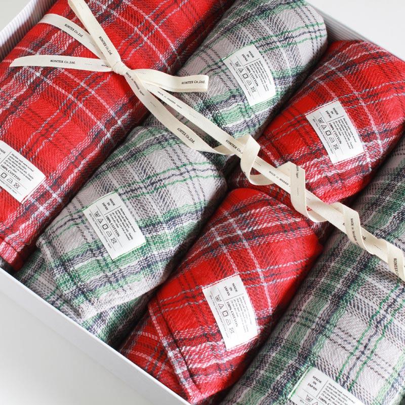 今治タオル コンテックス タータンチェック ギフトセット Imabari Towel Kontex Tartan Check GiftSet Size L2枚xSize M4枚ギフト包装無料 のし無料【今治タオル コンテックス ギフト】