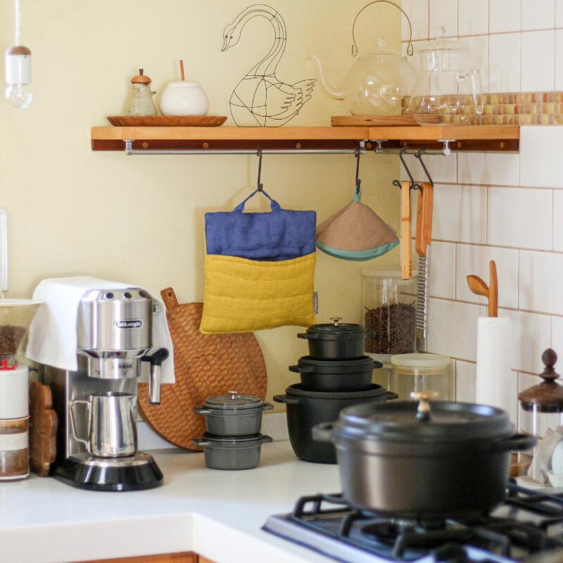 毎日の家事時間に彩りを添えて キッチンに立つ時間が楽しくなる 格安 コーンホルダー2pcs ポットホルダー 全店販売中