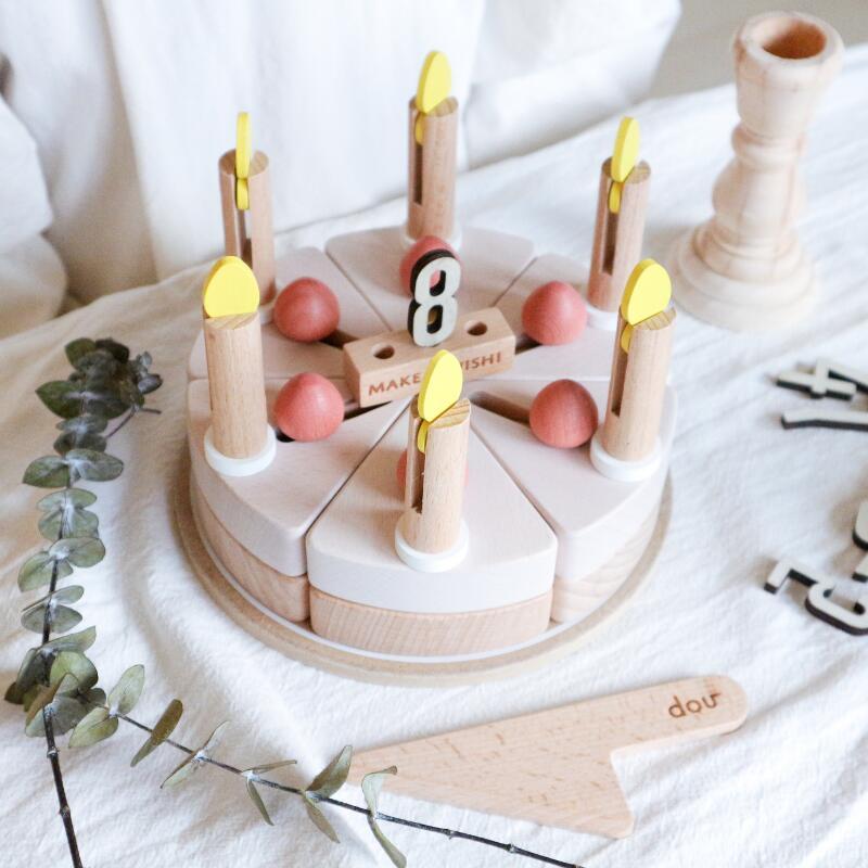 ギフト包装承りますので 個別にお問い合わせください 小さな魔法が込められた遊び心のある木のケーキ 安心 安全に遊べ 想像力や感性を高め 家族の記憶に残るおもちゃ A MAKE SALE WISH 新作 人気 dou
