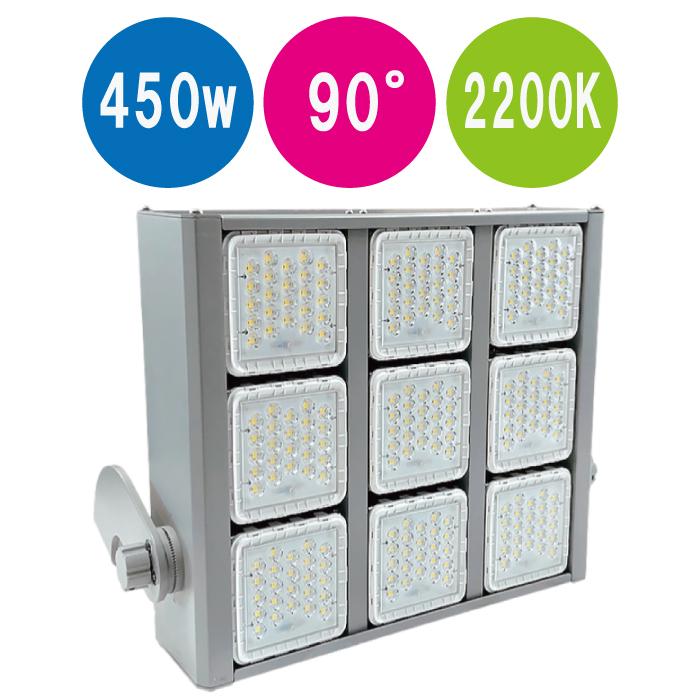 LED大型投光器 HP-LFL450-90-2200K-BRA 新色追加して再販 450w 売店 角型