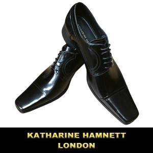 キャサリン ハムネット | 革靴 | ビジネスシューズ | ロングノーズ スクエアトゥ | 天然皮革 | 黒 | 24.5~27.0 | メンズ |