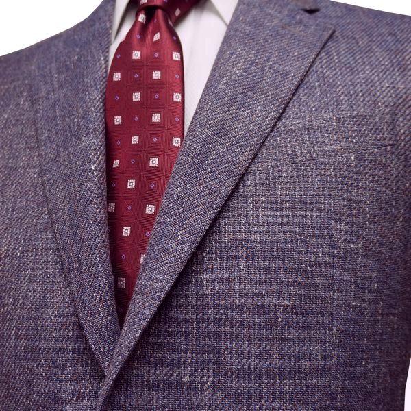 春夏|ロンナー|メンズジャケット|ニュークラシックモデル|毛・麻|シングル2ボタン|AB・BE・E|パープル|日本製|紳士服|メンズ|LONNER|7k011162-5871n