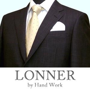 春夏|ロンナー|ジャケット(メンズ・テーラード)|NEW CLASSIC MODEL|2ボタン|日本製|AB,BB,E|チャコールグレー(チェック)|紳士服|