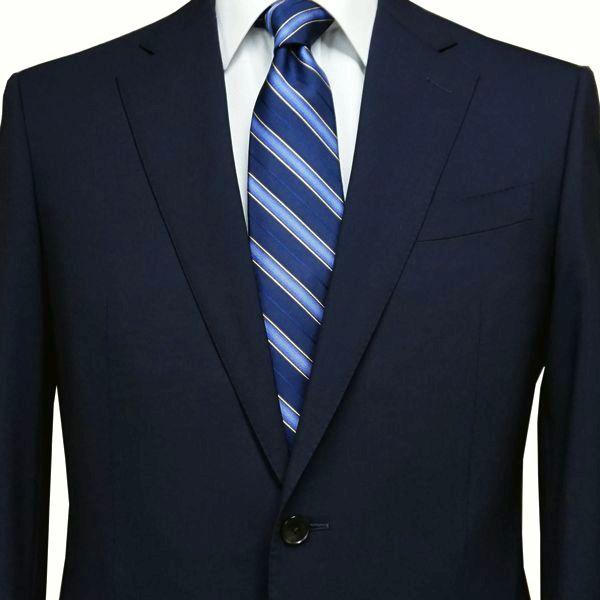 春夏|ロンナー(ゼニア生地)|メンズスーツ|JPクラシックモデル|シングル2ボタン|R(A)・C(AB)・L(BE)|ネイビー|日本製|紳士服|メンズ|LONNER|7k010162-0031j