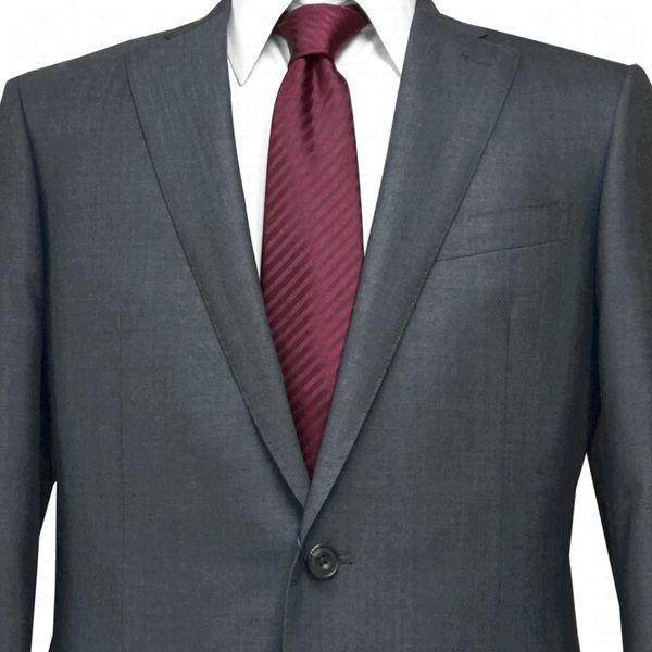 春夏|ロンナー|メンズスーツ|ブルーステッチモデル|シングル2ボタン|R(A)・C(AB)・L(BE)|グレー|日本製|紳士服|メンズ|LONNER|7k020162-3801b