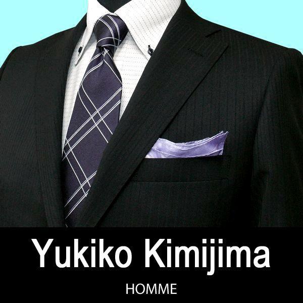 【春夏】ユキコ キミジマ2ボタンスーツ / 黒 / A体 ・ AB体(ノータックパンツ) / BB体(1タックパンツ)