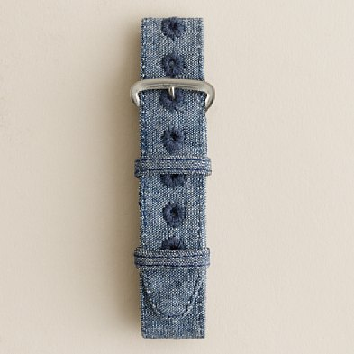 J.CREW 제이. 대원 Watch strap 시계 스트랩 (LIGHT BLUE CHAMBRAY)