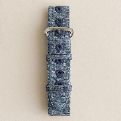 J.CREW 제이. 대원 Watch strap 시계 스트랩 (LIGHT BLUE CHAMBRAY)