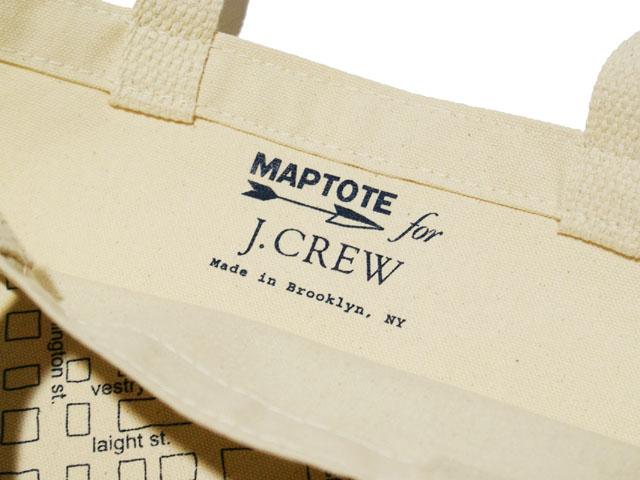 MAPTOTE for J.CREW帆布大手提包(CREAM)