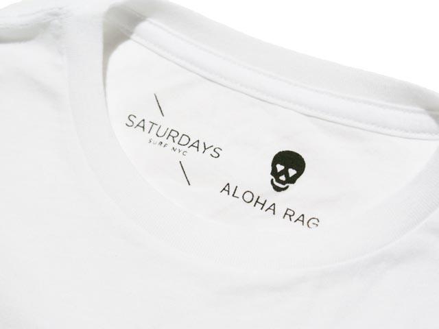 SATURDAYS SURF NYC SATURDAYS×ALOHA RAG标识T恤(WHITE)