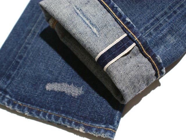 RRL double Aurel damage & Repair スリムブーツ cut jeans (MEDIUM WASH)