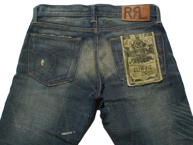 RRL double Aurel damage & Repair slim fit jeans (MEDIUM WASH)