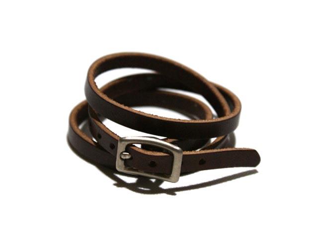 J Crew Jay Billy Kirk Triple Lap Leather Bracelet Brown