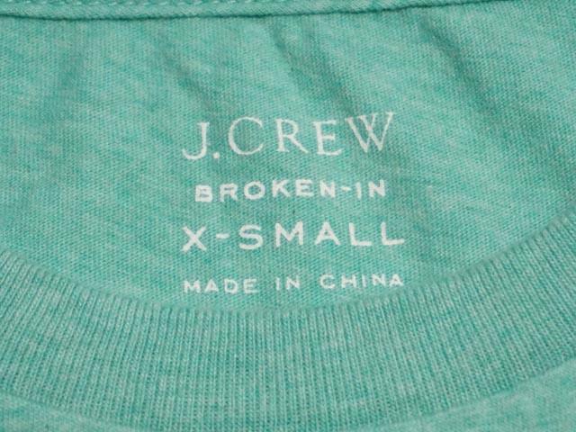 J.CREW 周杰伦...船员断在口袋 tee 破口袋 TEE