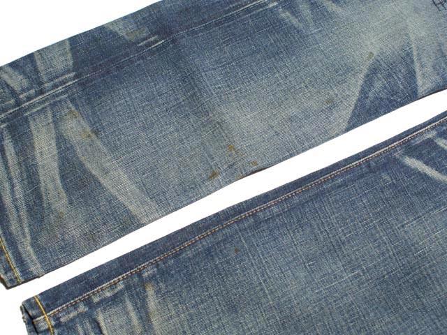 RRL double Aurel damage & Repair ストレートレグ jeans (MEDIUM WASH)