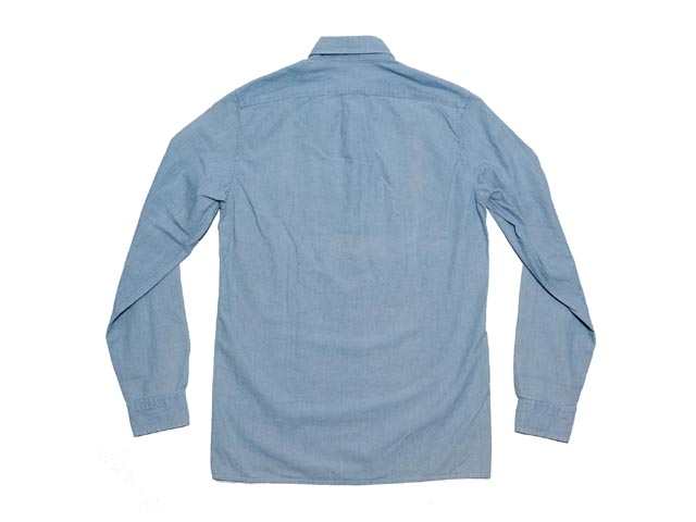 J.CREW杰克汤汁Japanese chambray popover shirt japanizushamburepoppuobashatsu(CHAMBRAY)