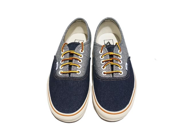 d48195535c CREW Vans for J.Crew two-tone denim authentic sneakers now available!