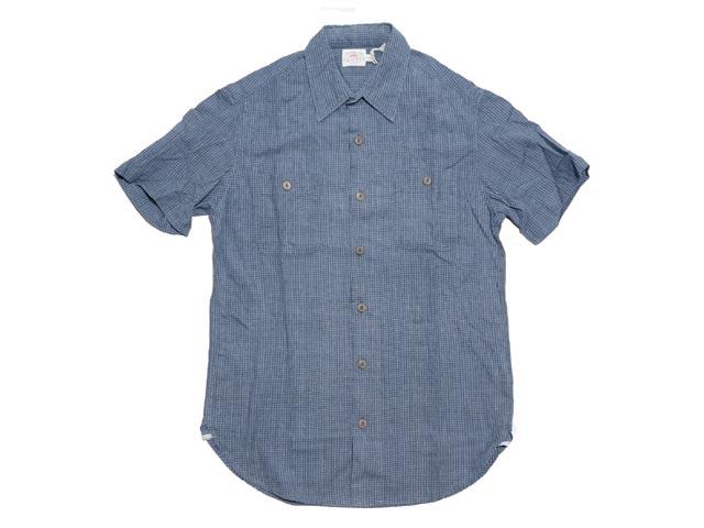 【送料無料!!】FAHERTY BRAND ファリティ ブランド SS Heritage Workshirt SS ヘリティジ ワークシャツ(DARK INDIGO CHECK)